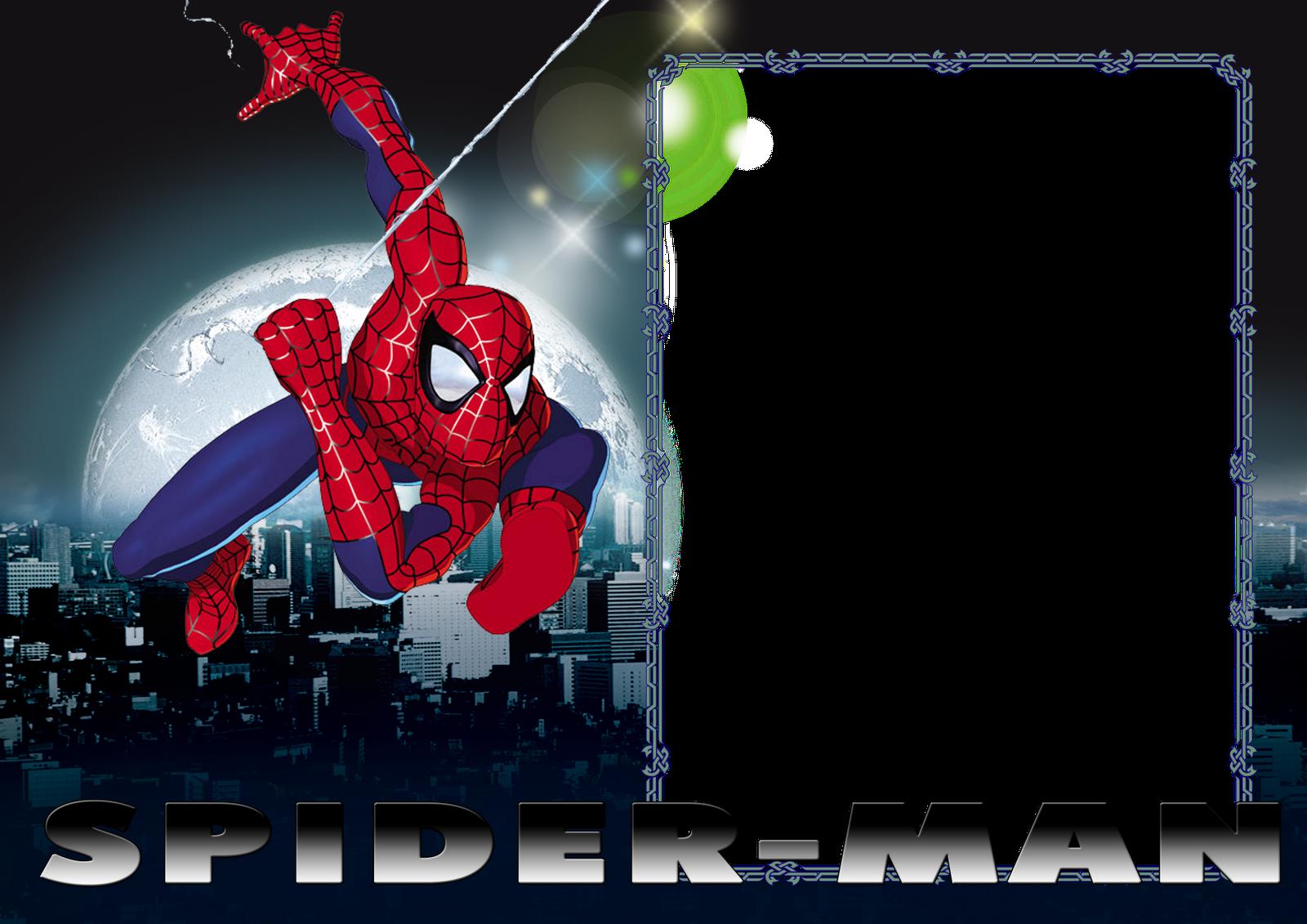 Convite Homem-Aranha Em Branco
