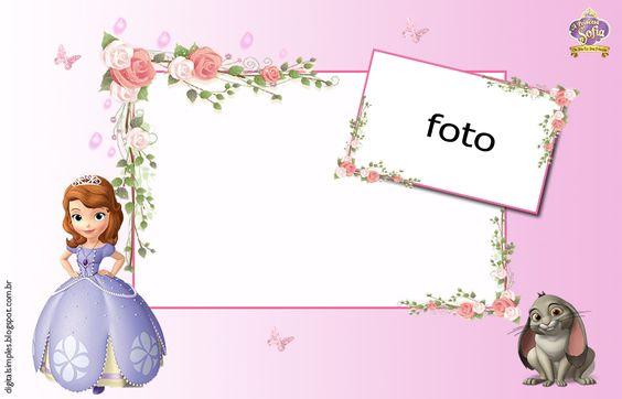 Convite Princesa Sofia Em Branco