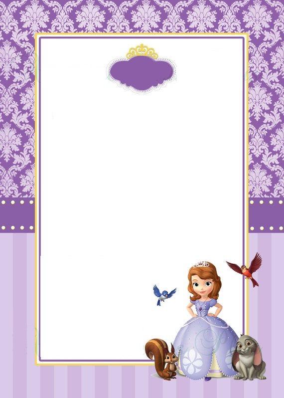 Convite Princesa Sofia Online
