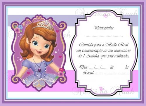 Convite Princesa Sofia 45 Ideias Que Vao Te Encantar