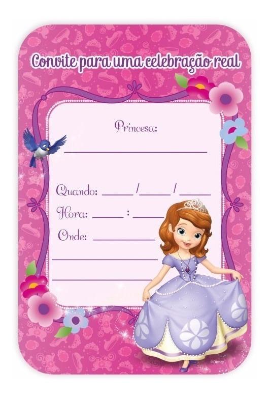 Convite Princesa Sofia Para Imprimir