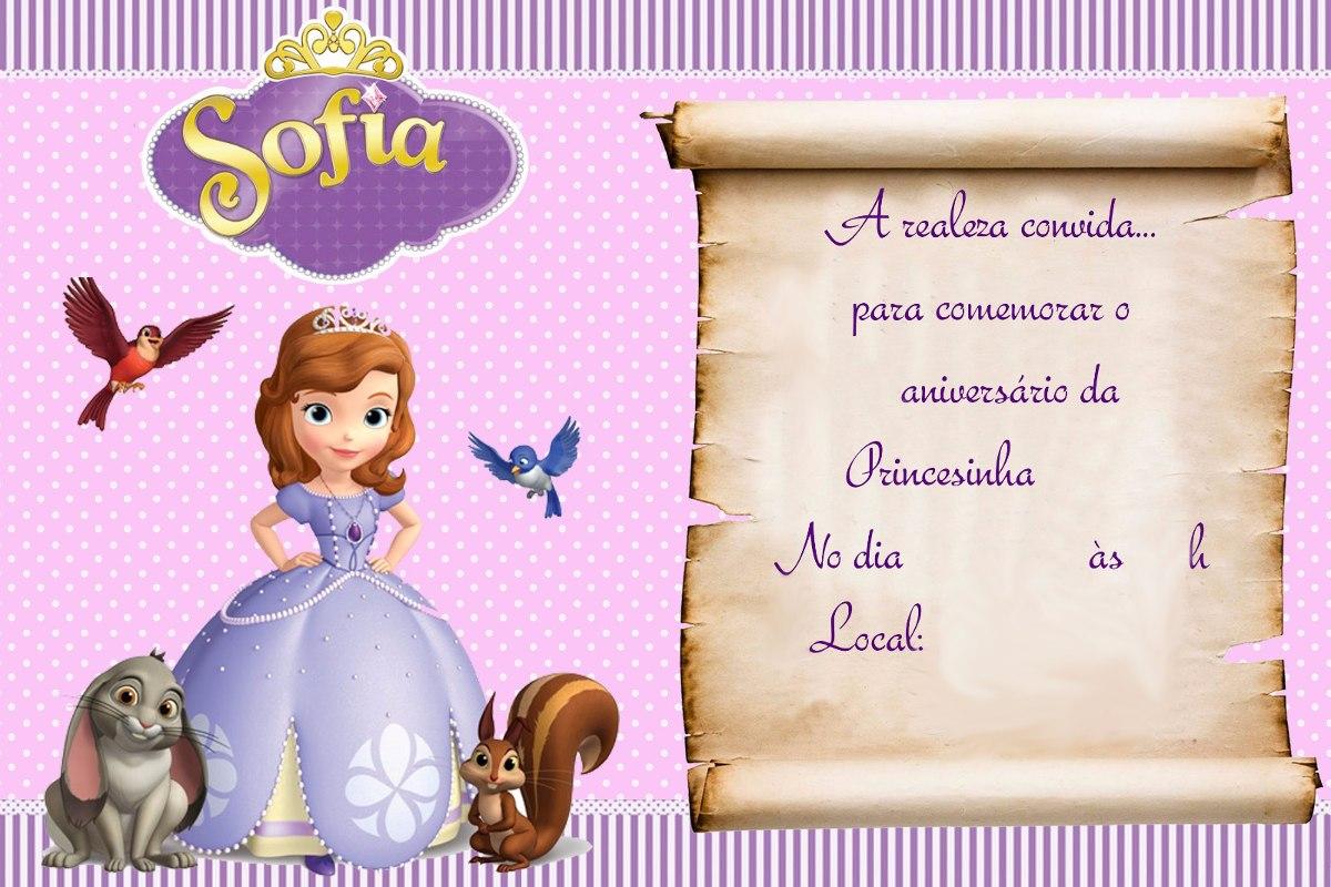 Convite Princesa Sofia Pergaminho