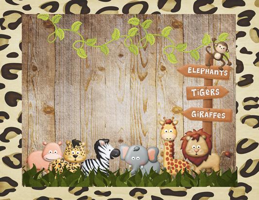 convite safari Para Editar