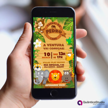 convite safari Virtual