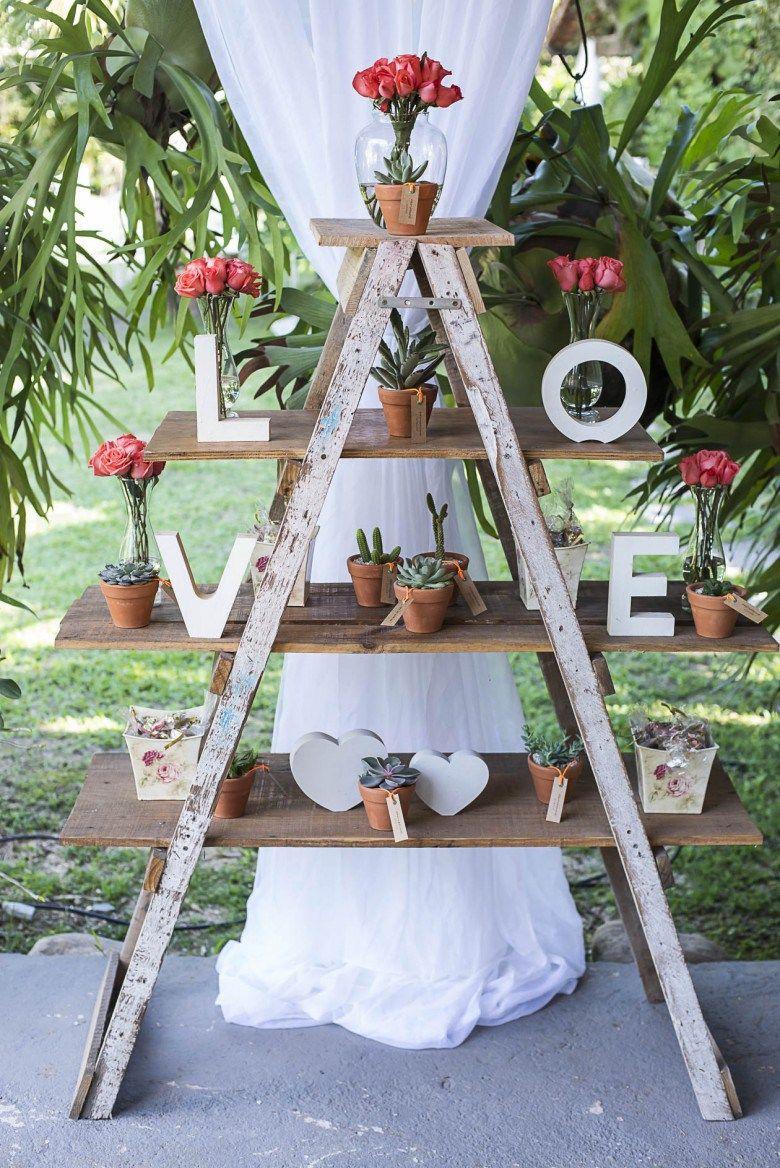decoração de casamento simples Ao Ar Livre