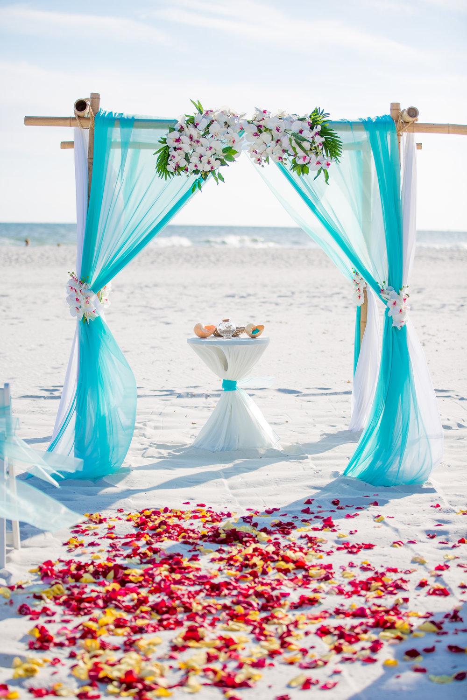 decoração de casamento simples Azul