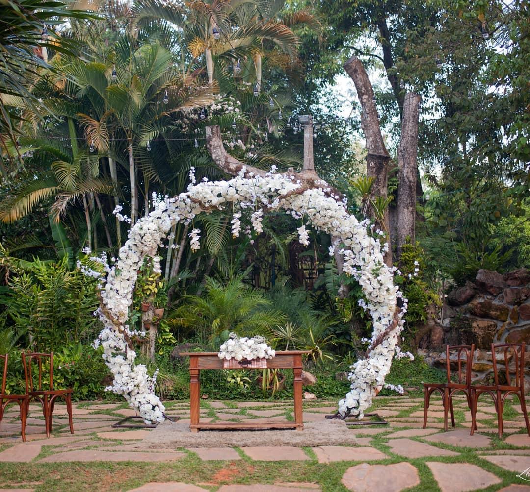 decoração de casamento simples Chácara