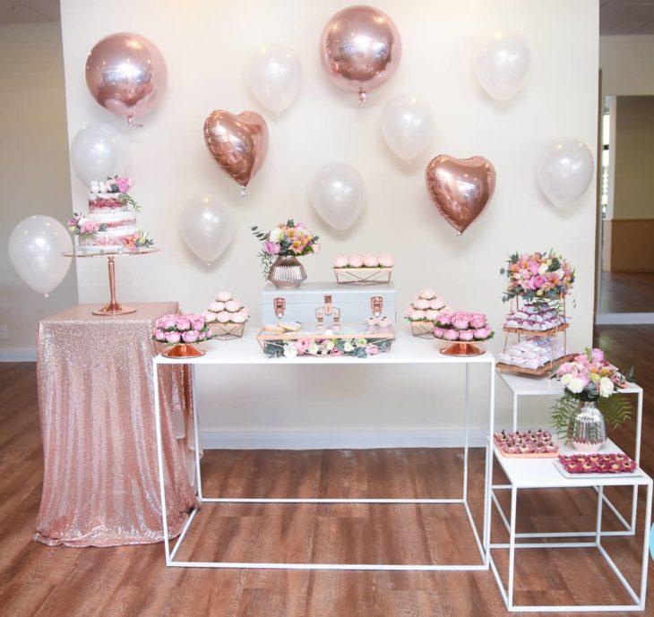 decoração de casamento simples Rosa