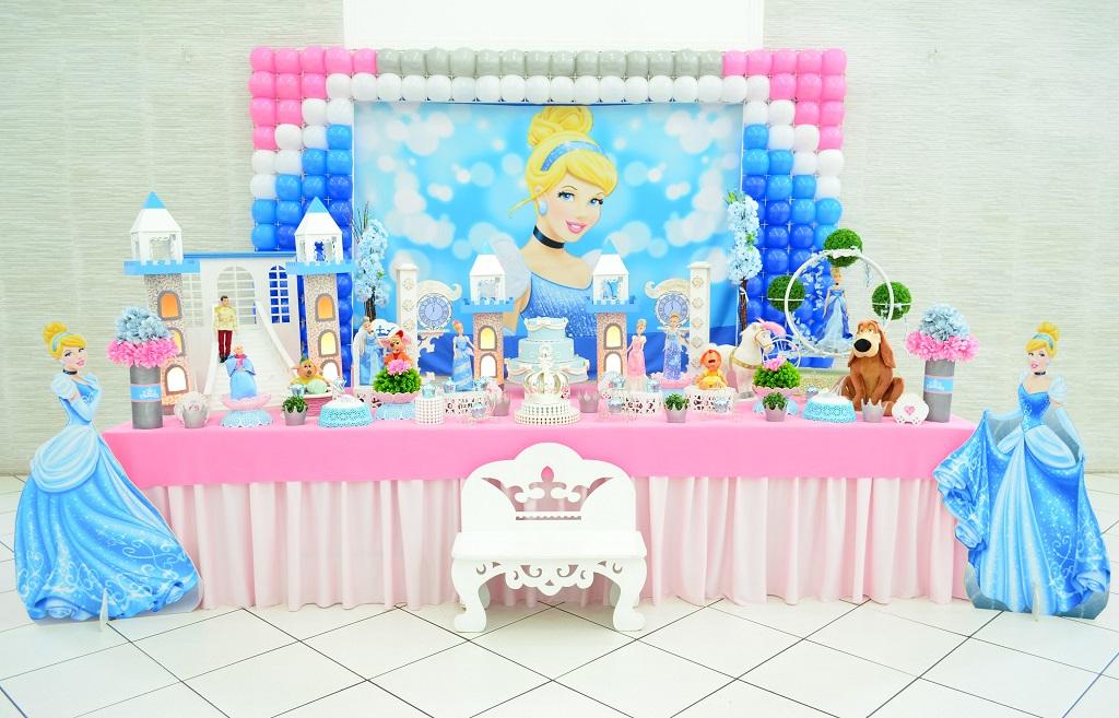 festa cinderela Azul e Rosa