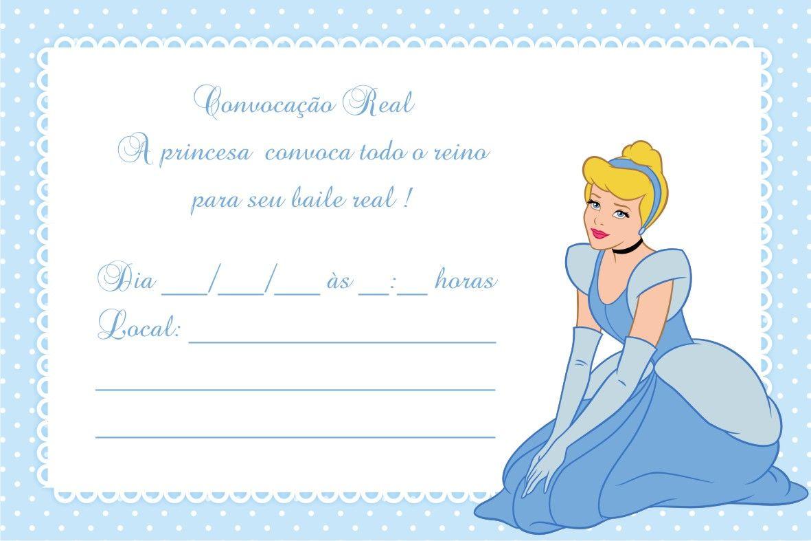 festa cinderela Convite