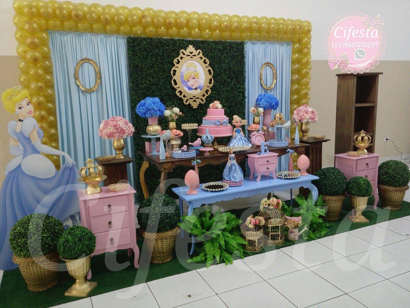 festa cinderela 1 ano