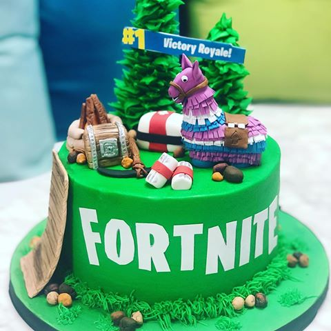festa fortnite Bolo Decorado