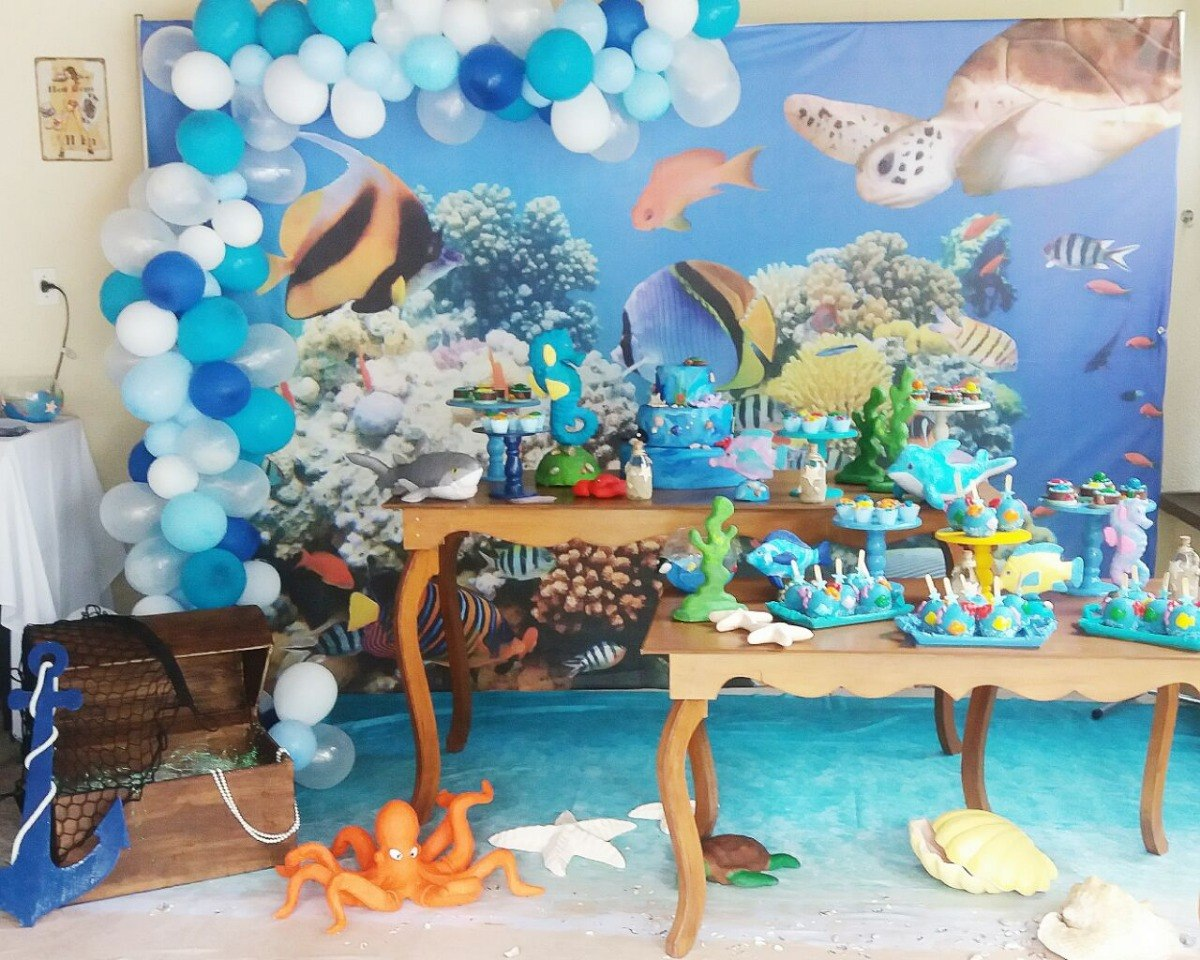 festa fundo do mar Azul