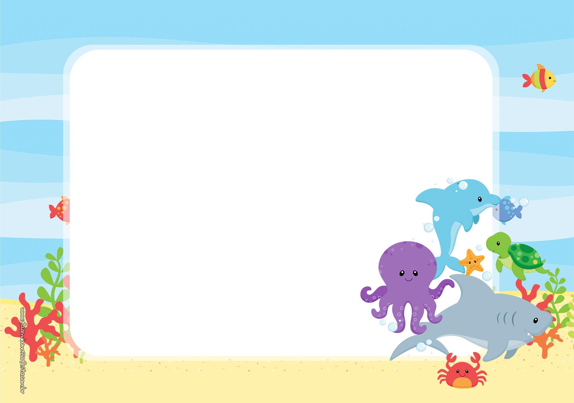 festa fundo do mar Convite