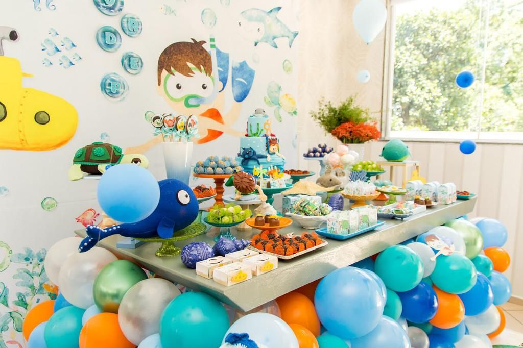 festa fundo do mar Infantil
