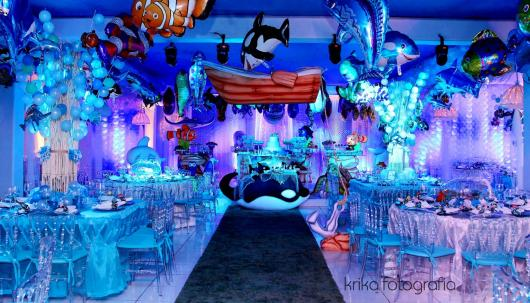 festa fundo do mar Luxo