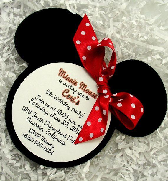 festa minnie Convite