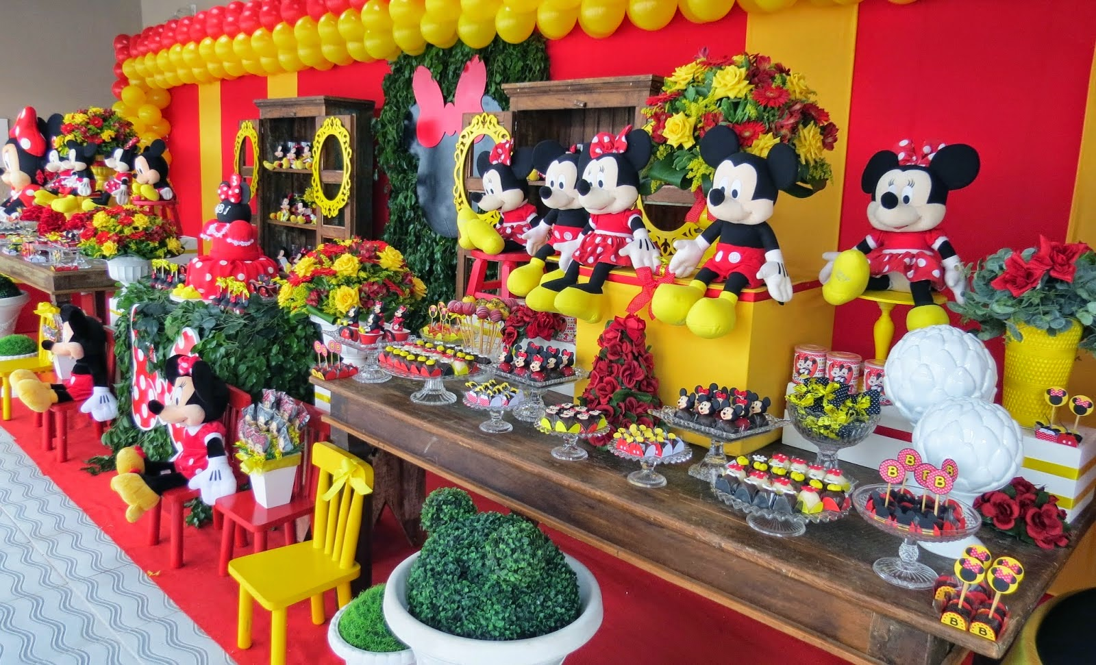 festa minnie Luxo