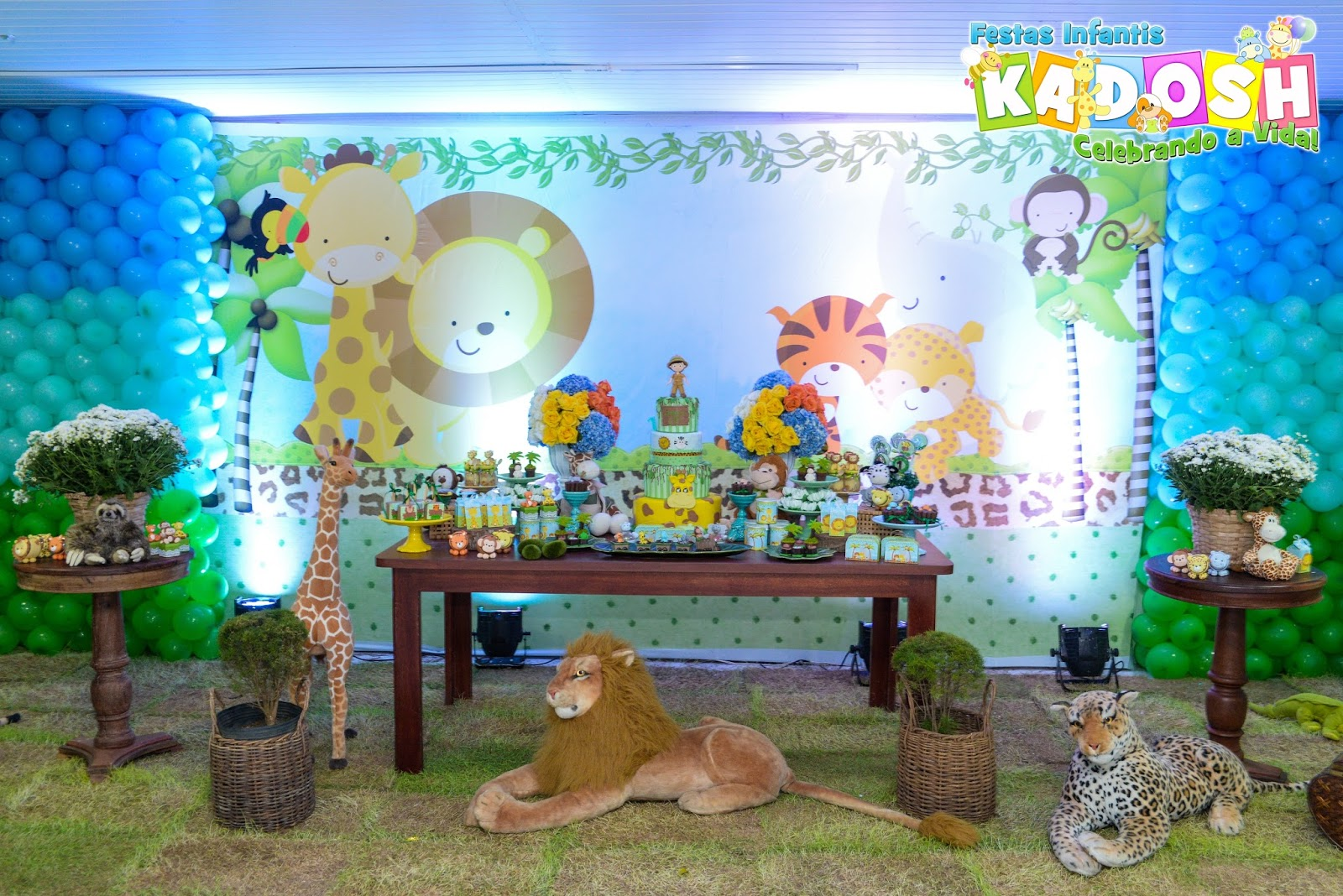 festa safari Azul