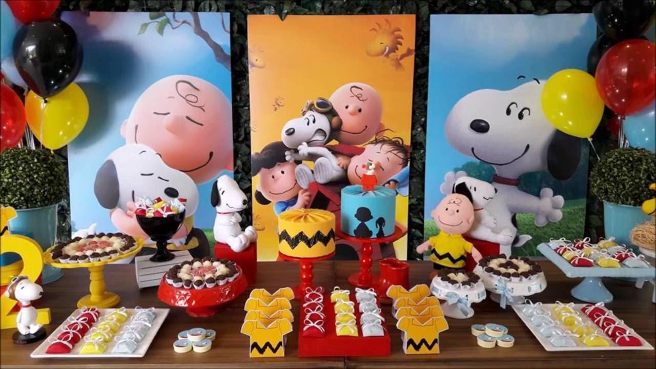 festa do snoopy E Charlie Brown