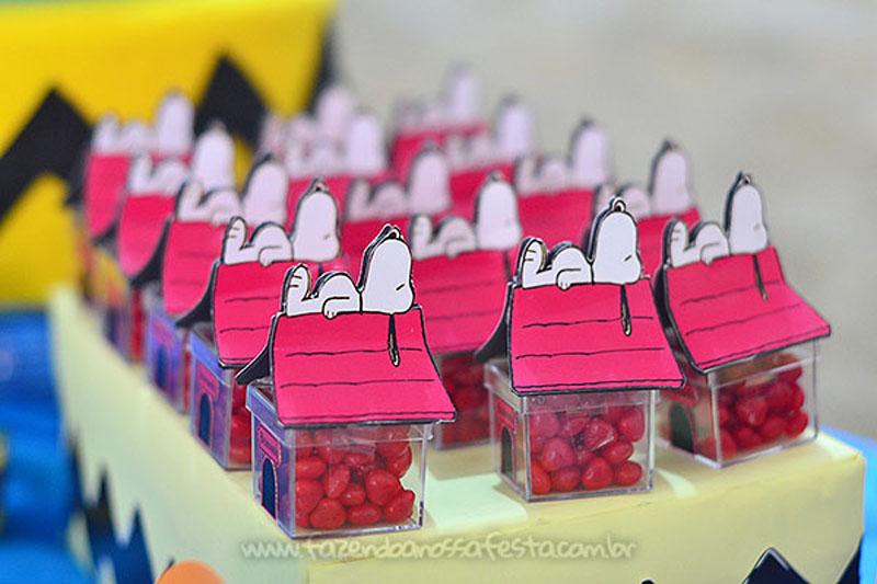 festa do snoopy Lembrancinhas