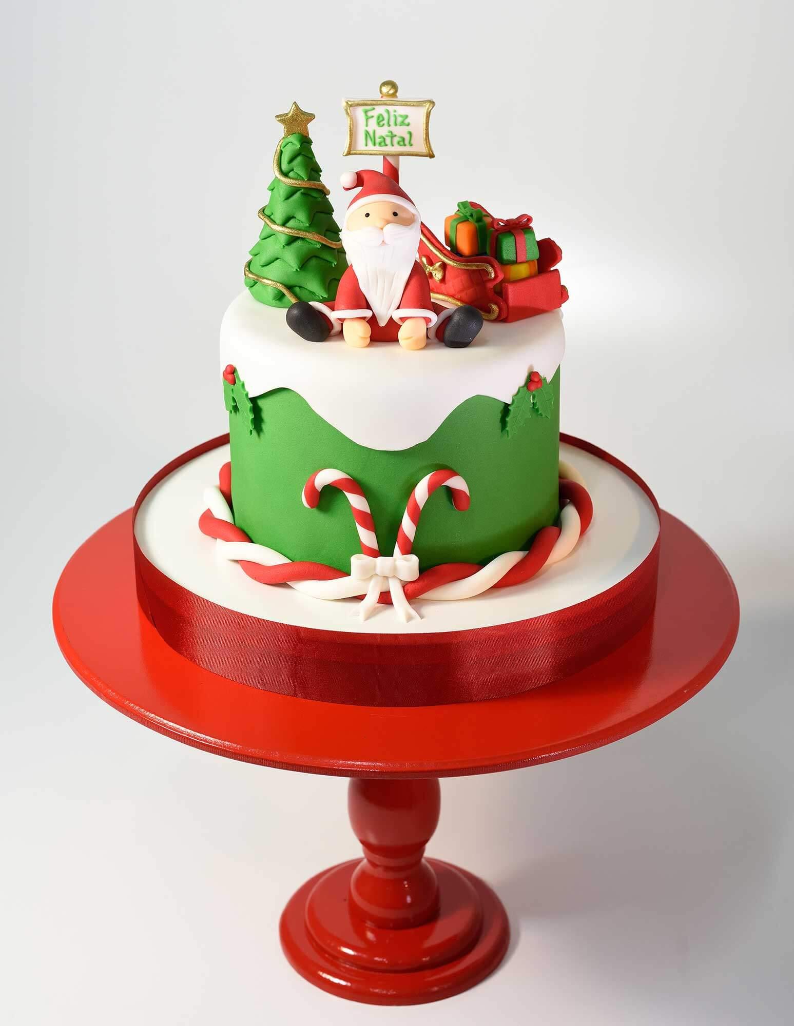 mini bolo decorado Com Pasta Americana