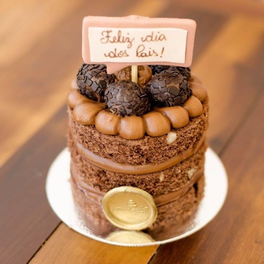 mini bolo decorado De Chocolate