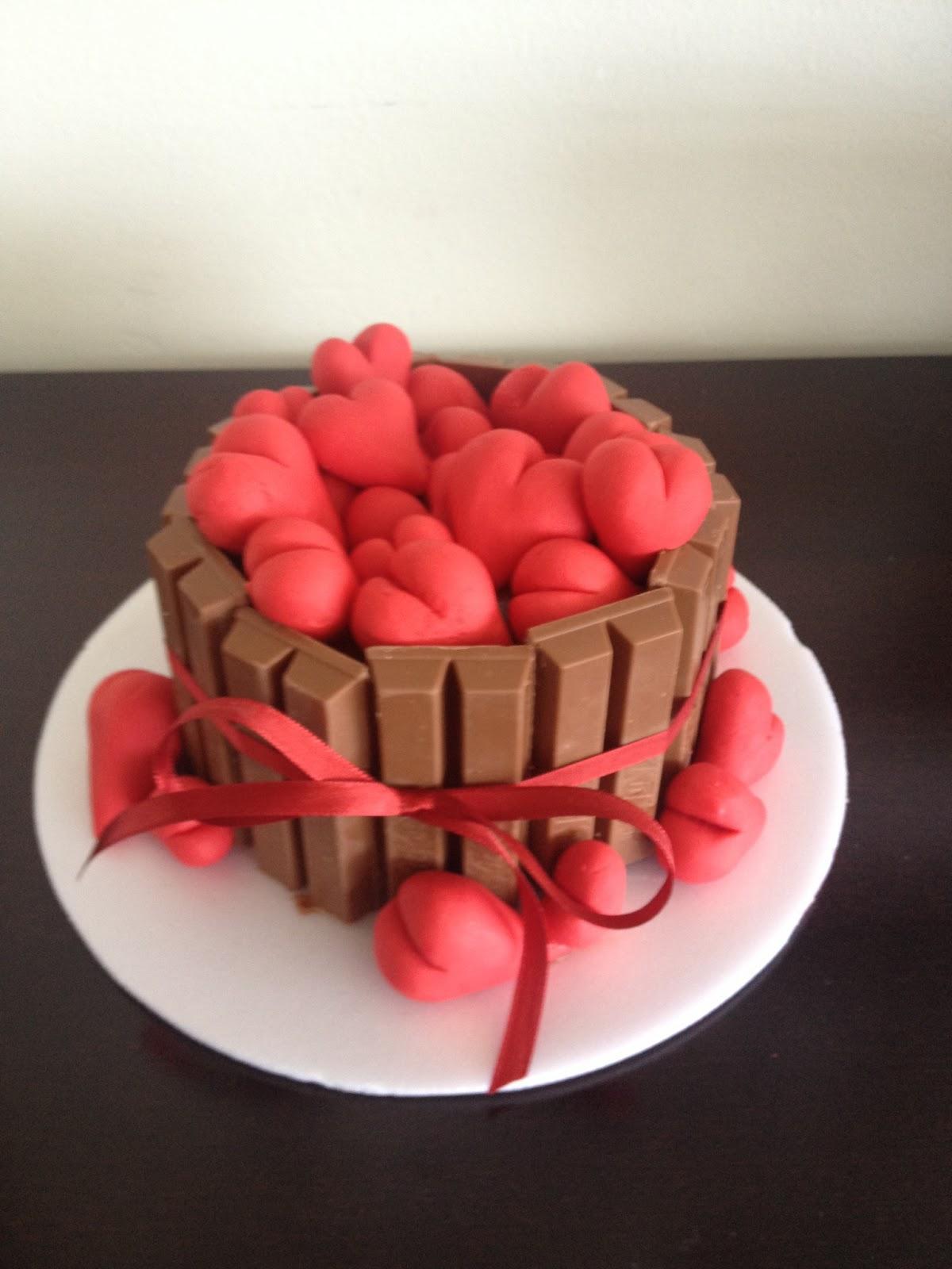 mini bolo decorado Dia dos Namorados