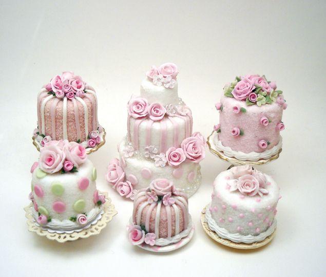 mini bolo decorado Para Casamento
