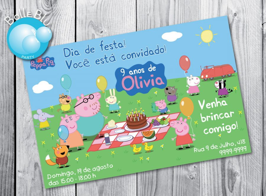 Festa Peppa Pig Convite