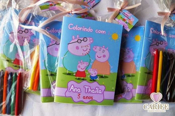 Festa Peppa Pig Lembrancinhas