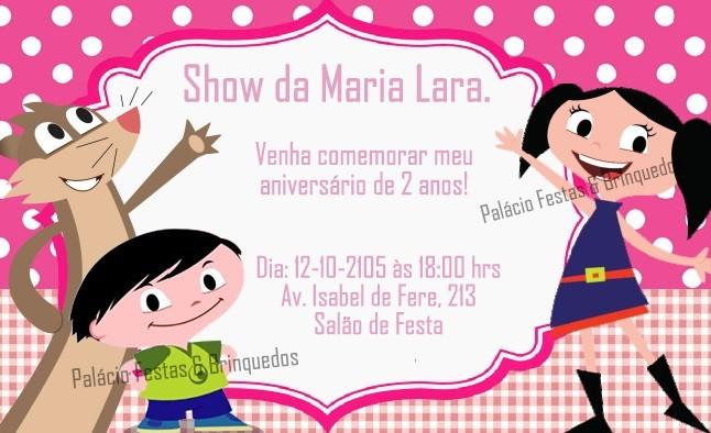 festa show da luna Convite