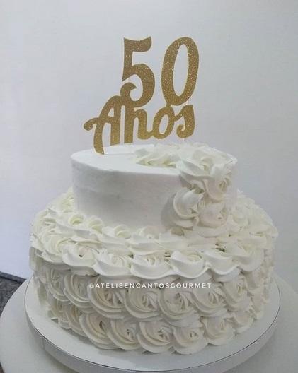 bolo 50 anos Chantilly