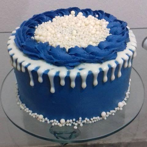Bolo Azul e Branco Masculino
