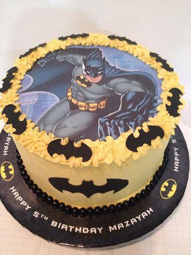Bolo Com Papel Arroz Do Batman