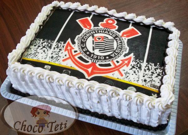 Bolo Com Papel Arroz Do Corinthians