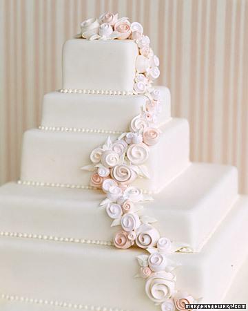 bolo de casamento quadrado Com Pasta Americana