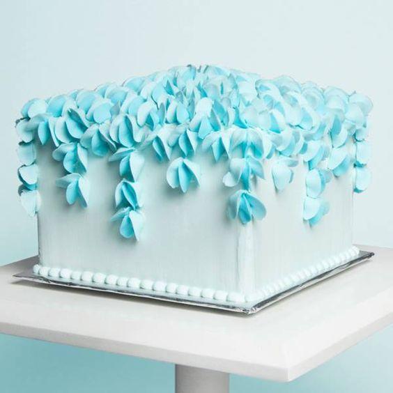 bolo de casamento quadrado Simples