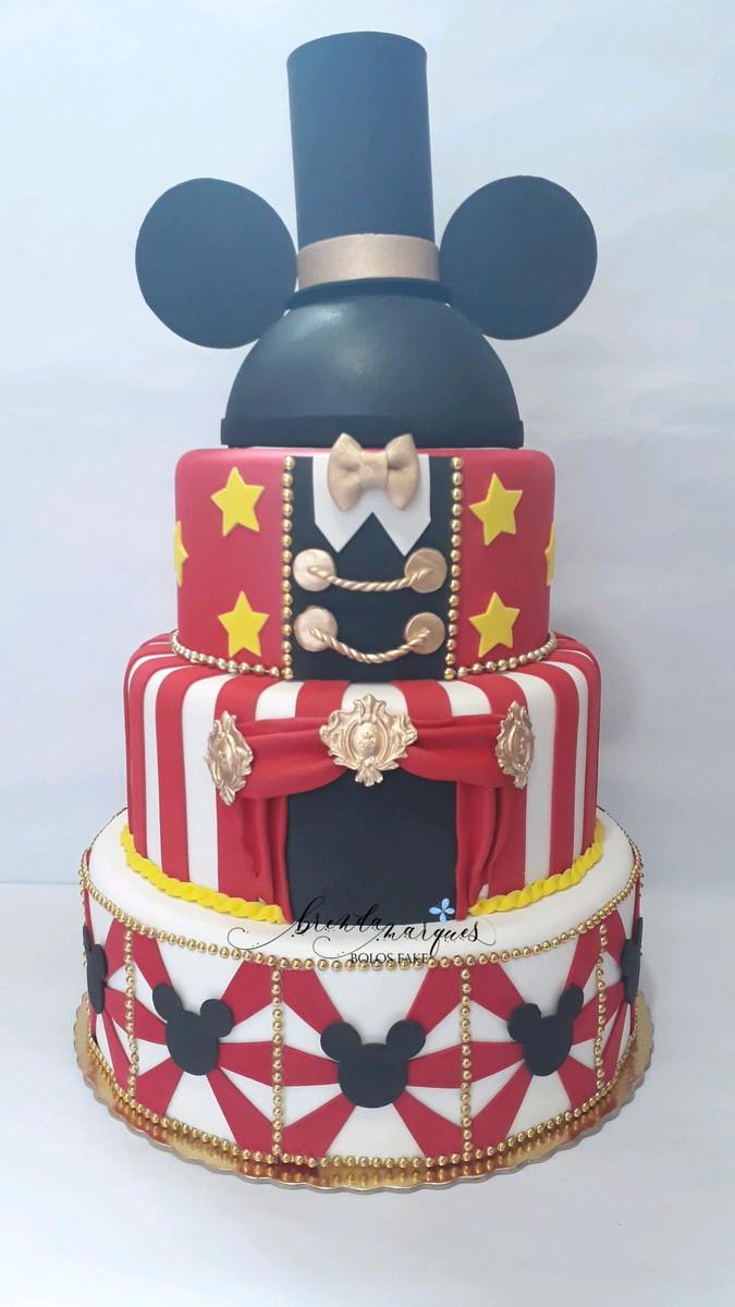 Bolo Fake Mickey Circo