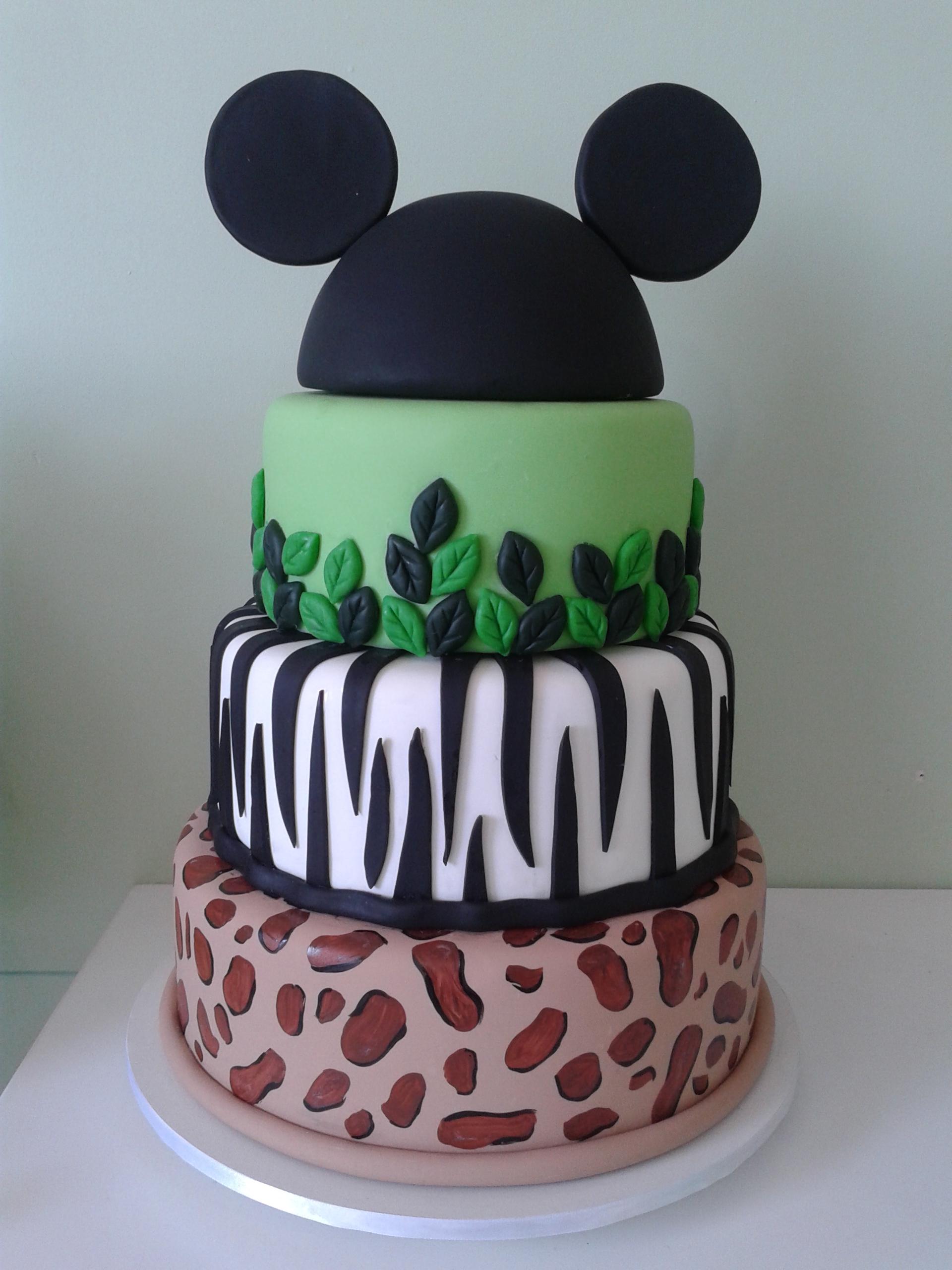 Bolo Fake Mickey Safari