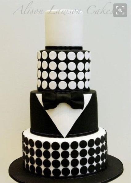 bolo preto e branco Masculino