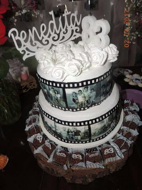bolo preto e branco Papel Arroz