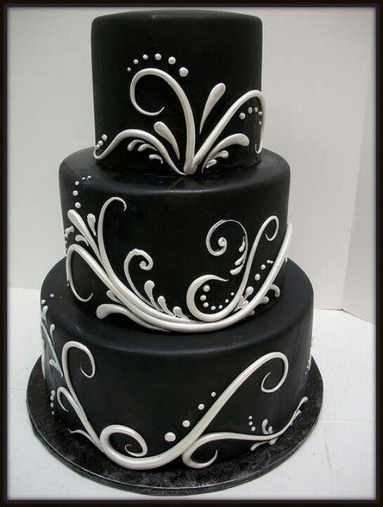 bolo preto e branco Pasta Americana