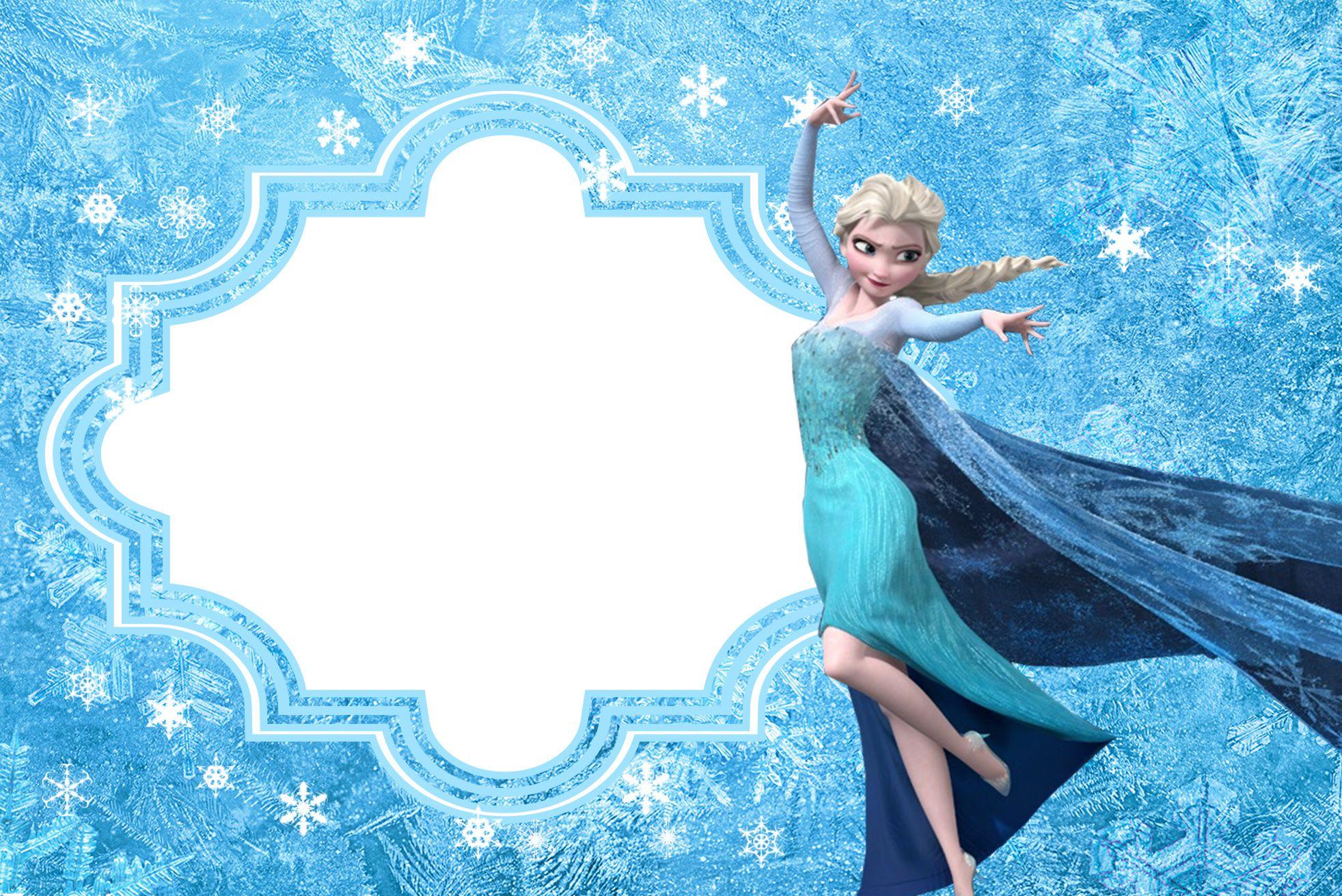 convite frozen Em Branco