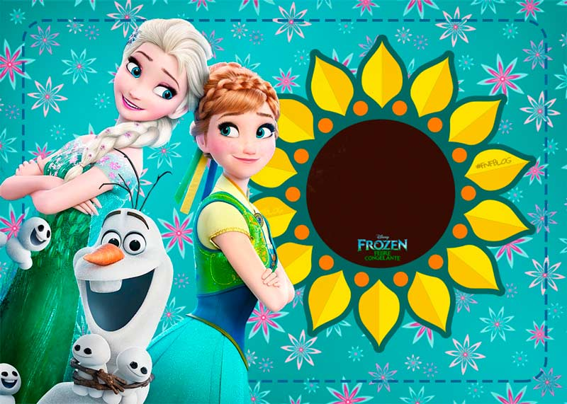 convite frozen Fever