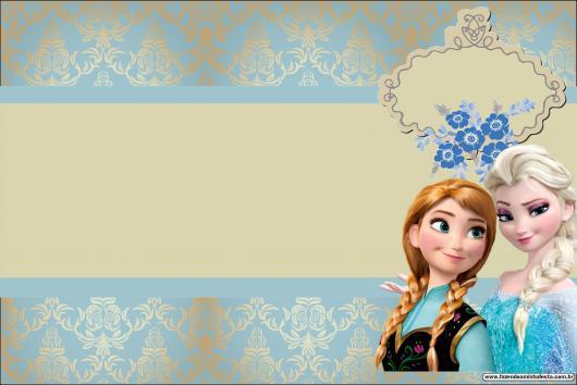 convite frozen Para Editar