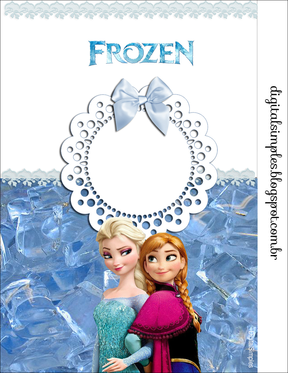 convite frozen Virtual
