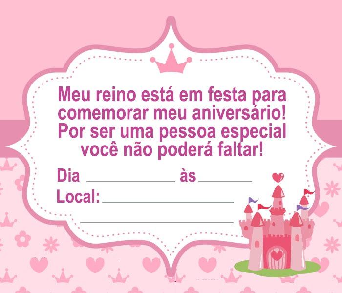 convite rosa Para Imprimir