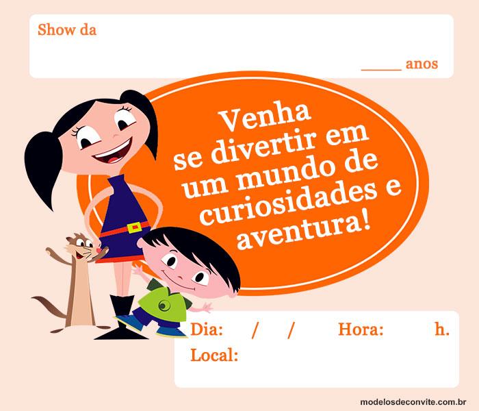 convite show da Luna Para Imprimir