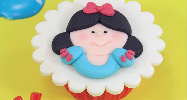 cupcake branca de neve Baby